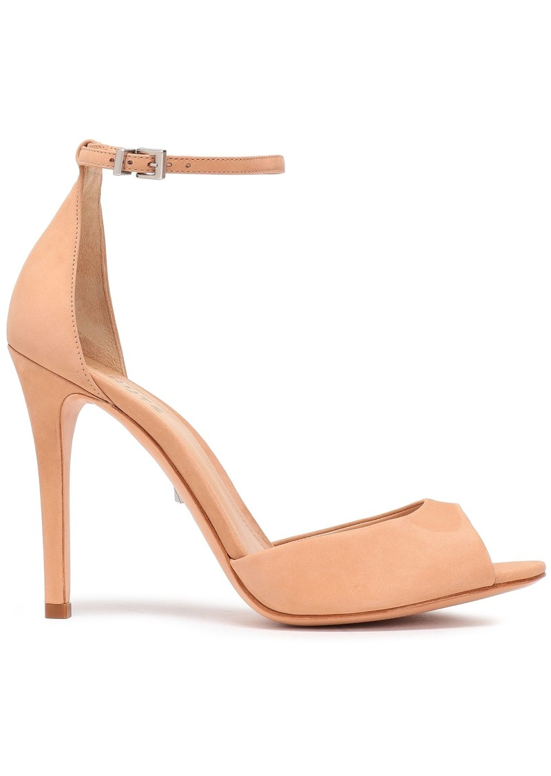 Schutz Woman Nubuck Sandals Peach
