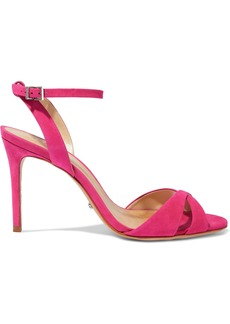 Schutz Woman Olyvia Nubuck Sandals Bright Pink
