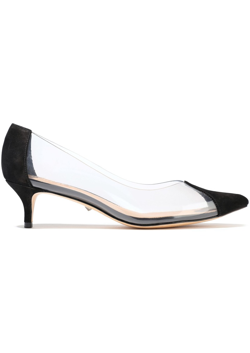 Schutz Woman Pvc And Nubuck Pumps Black