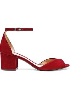 Schutz Woman Roama Nubuck Sandals Claret