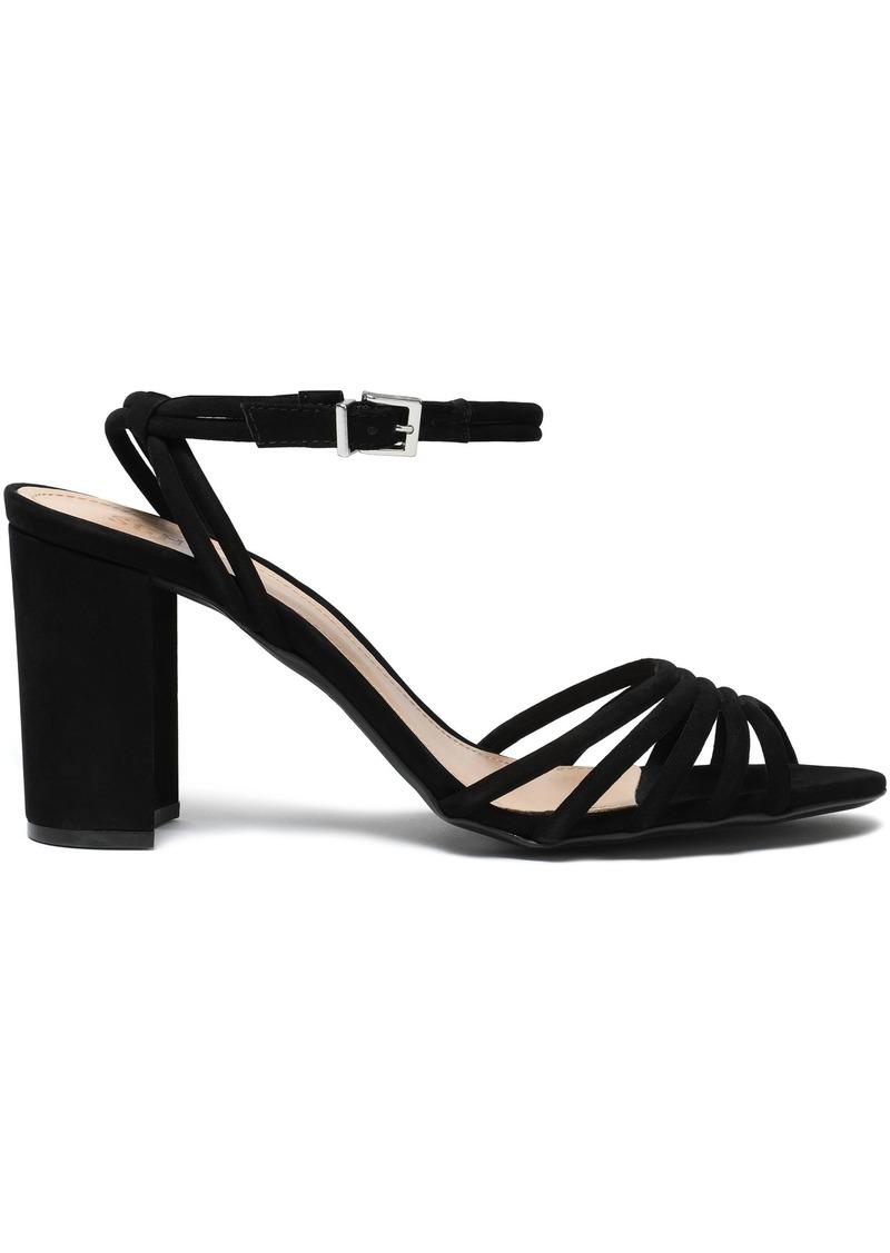 Schutz Woman Leather Sandals Black