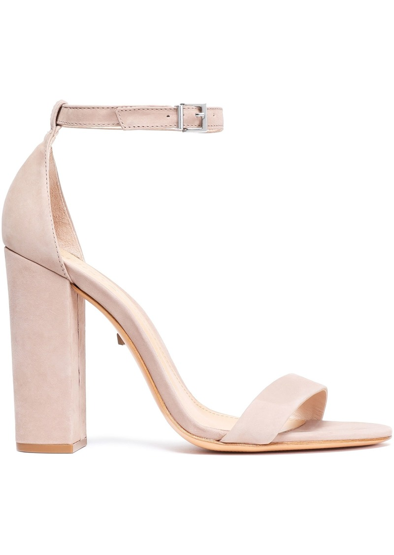 Schutz Woman Suede Sandals Neutral