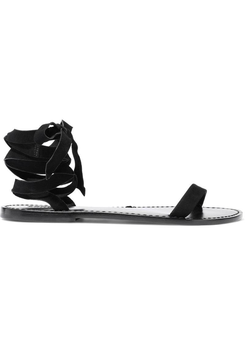 Schutz Woman Tommy Suede Sandals Black