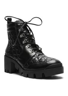SCHUTZ Women's Cory Quilted Leather Combat Booties