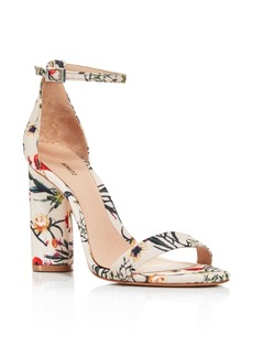 SCHUTZ Women's Jeannine Suede Block Heel Sandals