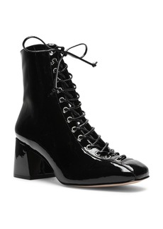 SCHUTZ Women's New Kika Lace Up Patent Leather Booties