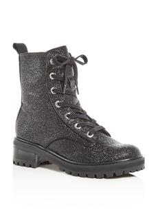 SCHUTZ Women's Poinsetia Glitter Platform Boots