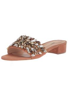 SCHUTZ Women's Victoria Slide Sandal Toasted nut  M US
