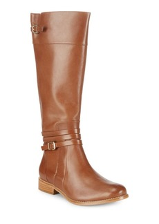SCHUTZ Wrap Buckle Leather Boots
