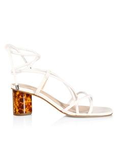 SCHUTZ Tattih Ankle-Wrap Leather Sandals
