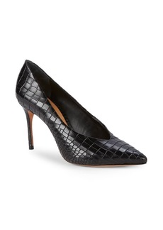 SCHUTZ Textured Leather Pumps