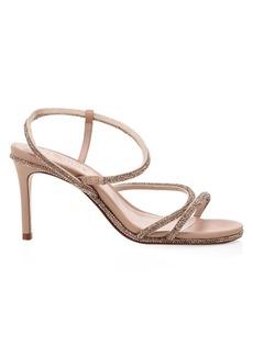 SCHUTZ Twyla Fay Crystal-Embellished Leather Sandals