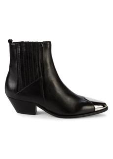 SCHUTZ Western Leather Booties