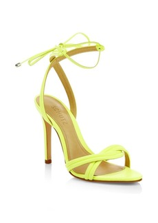 SCHUTZ Yvi Leather Stiletto Sandals