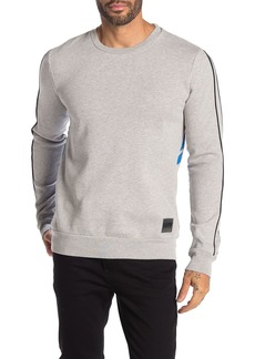 Scotch & Soda AMS Blauw Alpine Bison Back Fleece Sweatshirt