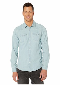 Scotch & Soda Ams Blauw Denim Western Shirt in Seasonal Washes