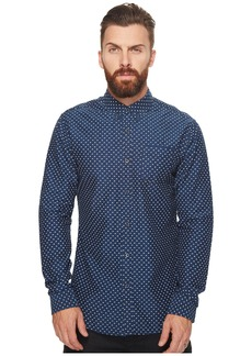 Scotch & Soda Ams Blauw Slim Fit All Over Printed Shirt in Seasonal Pattern