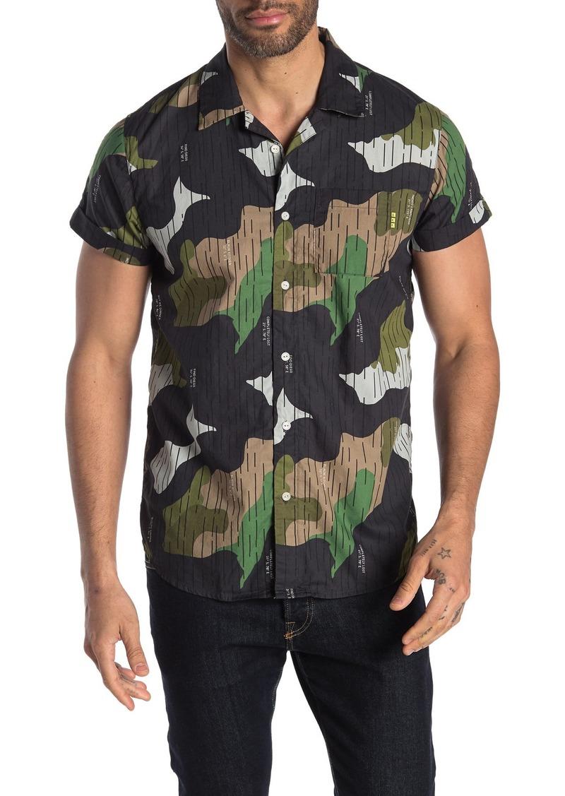 Scotch & Soda Amsterdams Blauw Short Sleeve Regular Fit Shirt