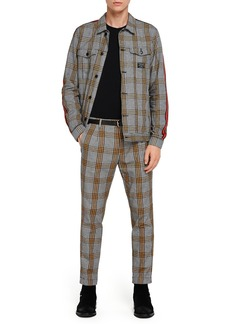 Scotch & Soda Blake Nepped Check Pleated Trousers