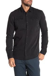Scotch & Soda Blauw Easy Western Slim Fit Shirt