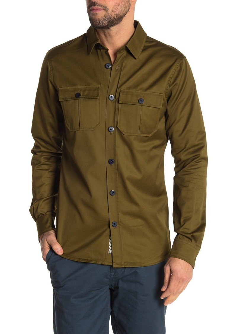 Scotch & Soda Blauw Post Relaxed Fit Shirt