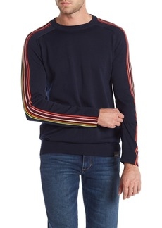 Scotch & Soda Bright Stripe Sleeve Sweatshirt