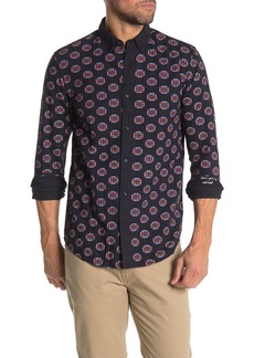 Scotch & Soda Brushed Geometric Print Regular Fit Shirt