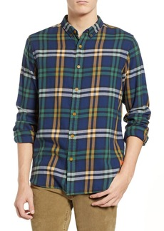 Scotch & Soda Check Flannel Regular Fit Shirt