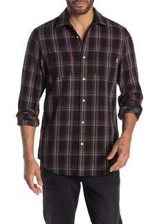 Scotch & Soda Check Tea Towel Relaxed Fit Sport Shirt