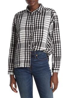 Scotch & Soda Classic Boxy Fit Check Print Shirt