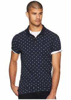 Scotch & Soda Classic Garment-Dyed Polo w/ All Over Print