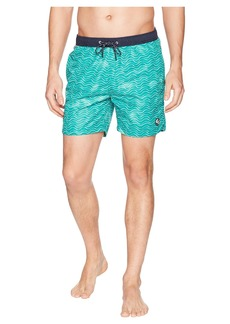 Scotch & Soda Classic Swim Shorts with Fresh Two-Tone All Over Pattern