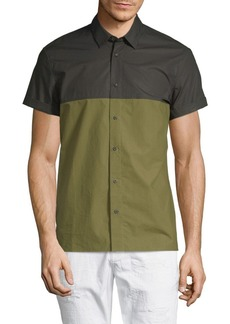 Scotch & Soda Colorblock Cotton Button-Down Shirt