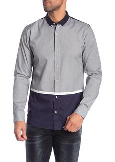Scotch & Soda Colorblock Long Sleeve Regular Fit Shirt