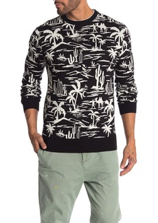Scotch & Soda Crew Neck Desert Print Sweatshirt
