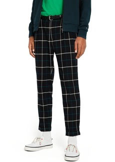 Scotch & Soda Curtis Structured Check Pleated Trousers