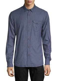 Scotch & Soda Dot Print Cotton Button-Down Shirt
