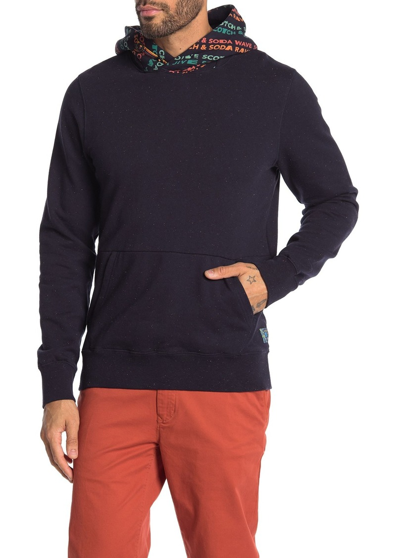 Scotch & Soda Flecked Button Neck Pullover Hoodie