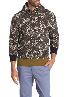 Scotch & Soda Floral Fleece Lined Pullover Hoodie
