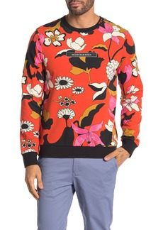 Scotch & Soda Floral Logo Pullover Sweatshirt