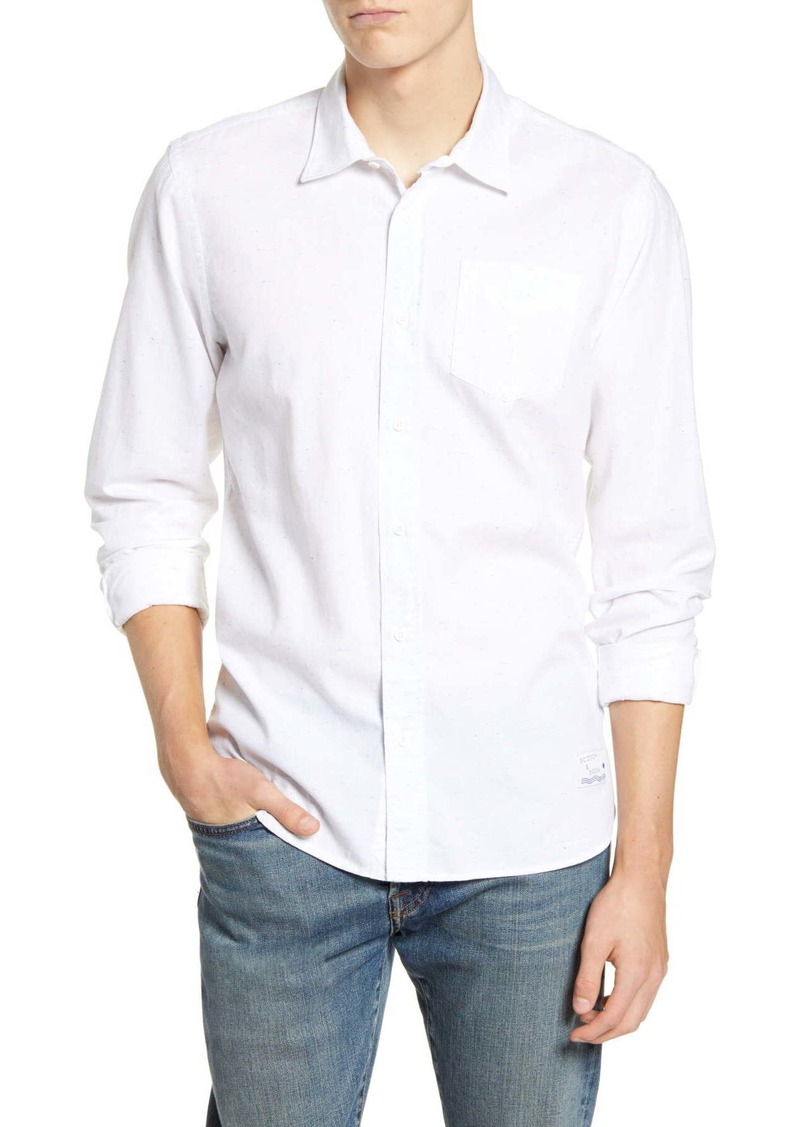 Scotch & Soda Flecked Relaxed Fit Shirt