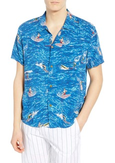 Scotch & Soda Hawaiian Fit Surfer Camp Shirt
