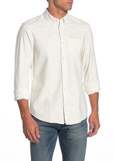 Scotch & Soda Heathered Long Sleeve Regular Fit Shirt