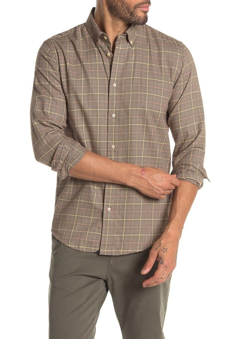 Scotch & Soda Houndstooth Plaid Regular Fit Shirt