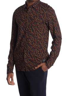Scotch & Soda Leopard Print Regular Fit Shirt