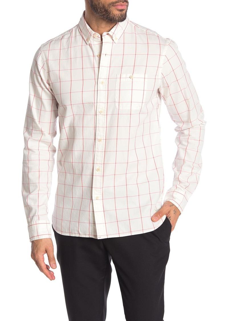 Scotch & Soda Long Sleeve Button Down Regular Fit Oxford Shirt