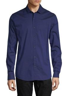 Scotch & Soda Long-Sleeve Cotton Button-Down Shirt