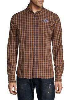 Scotch & Soda Long-Sleeve Printed Cotton Button-Down Shirt