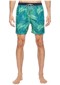 Scotch & Soda Medium Length Swim Shorts in Fine Peached Quality with Pattern
