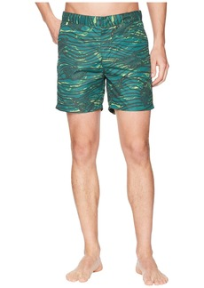 Scotch & Soda Medium Length Swim Shorts in Sophisticated Patterns